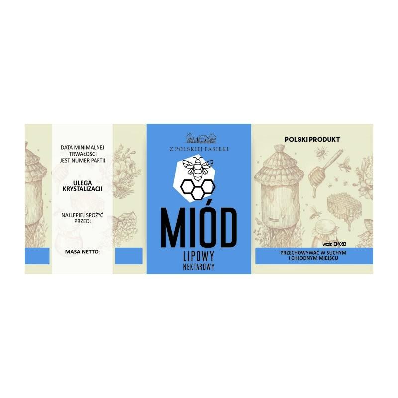 Etykiety na miód EM083 lipowy